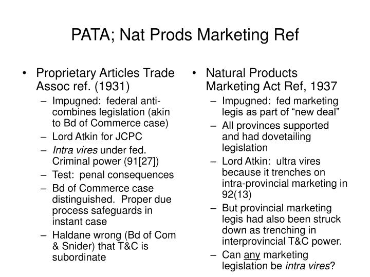 Proprietary Articles Trade Assoc ref. (1931)