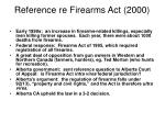 reference re firearms act 2000