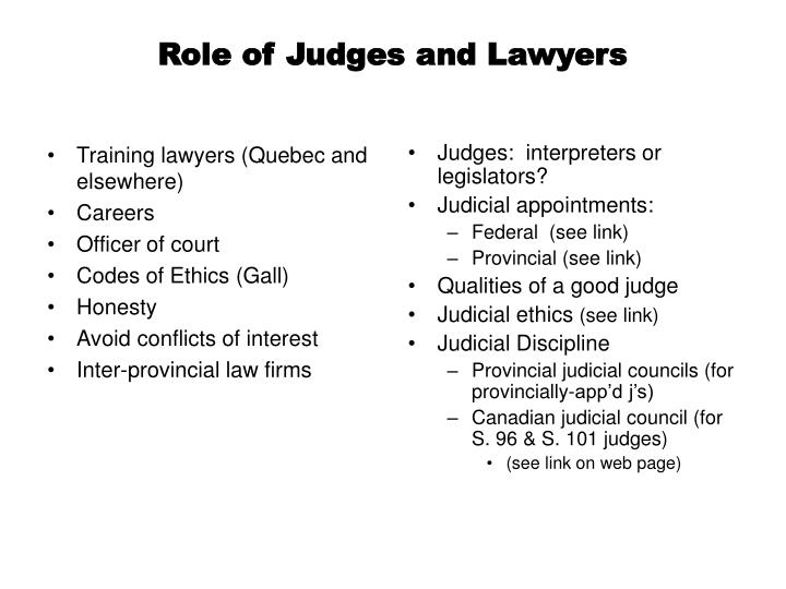 Training lawyers (Quebec and elsewhere)