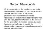 section 92a cont d