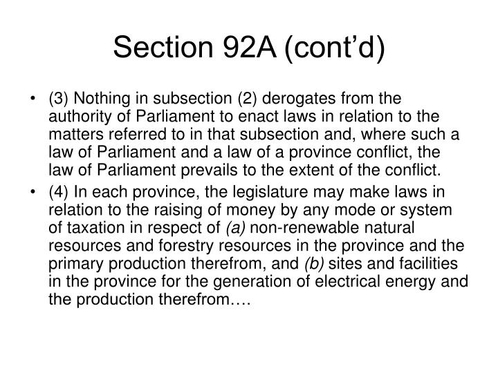 Section 92A (cont'd)