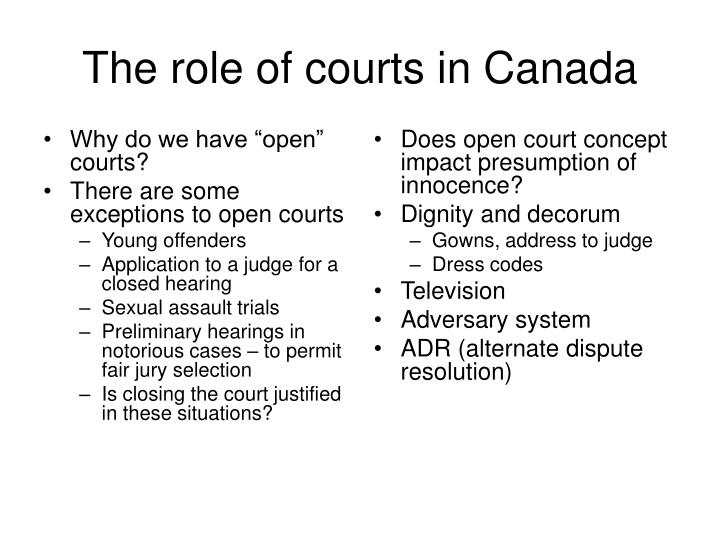 "Why do we have ""open"" courts?"