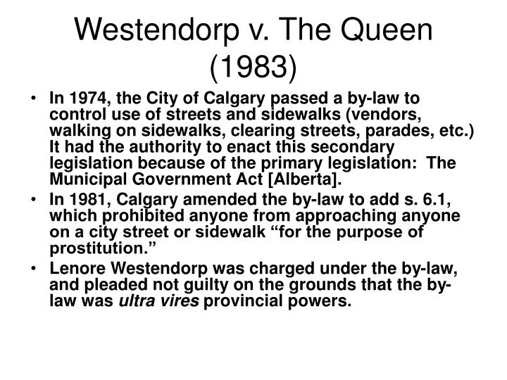 Westendorp v. The Queen (1983)