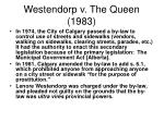 westendorp v the queen 1983