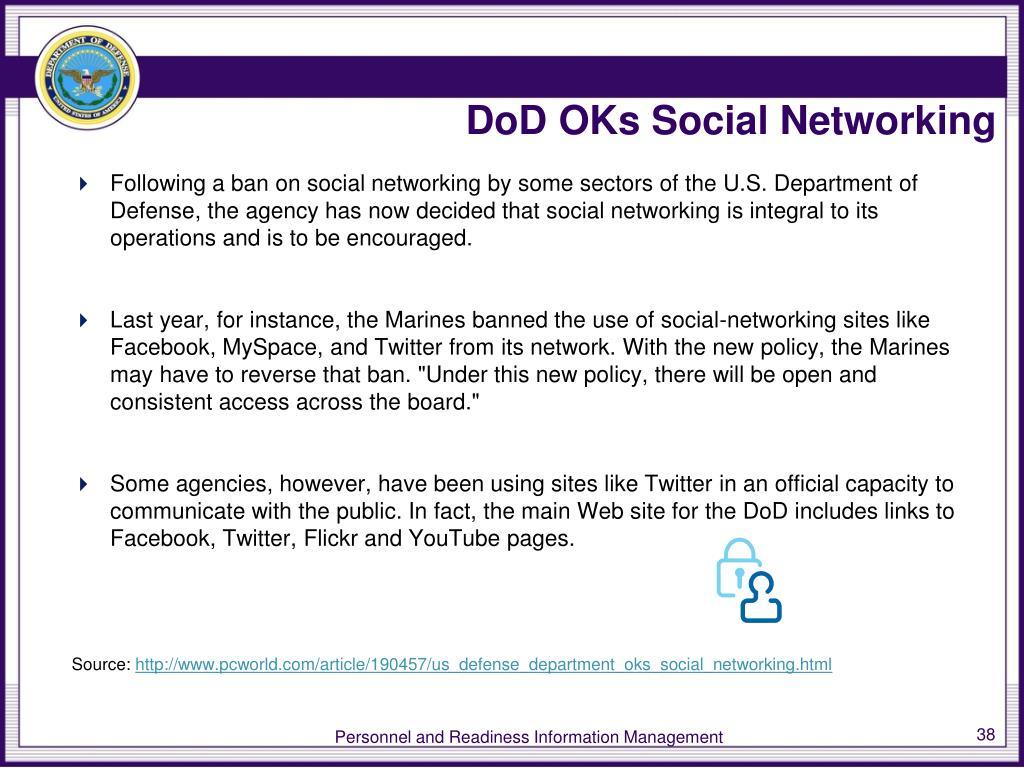 DoD OKs Social Networking
