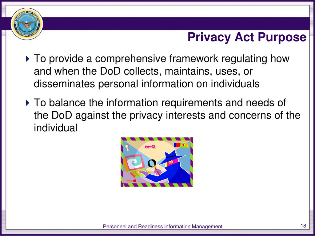 Privacy Act Purpose