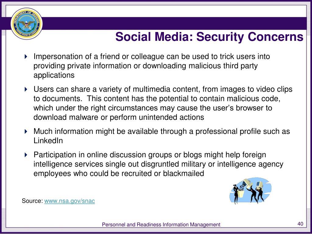 Social Media: Security Concerns