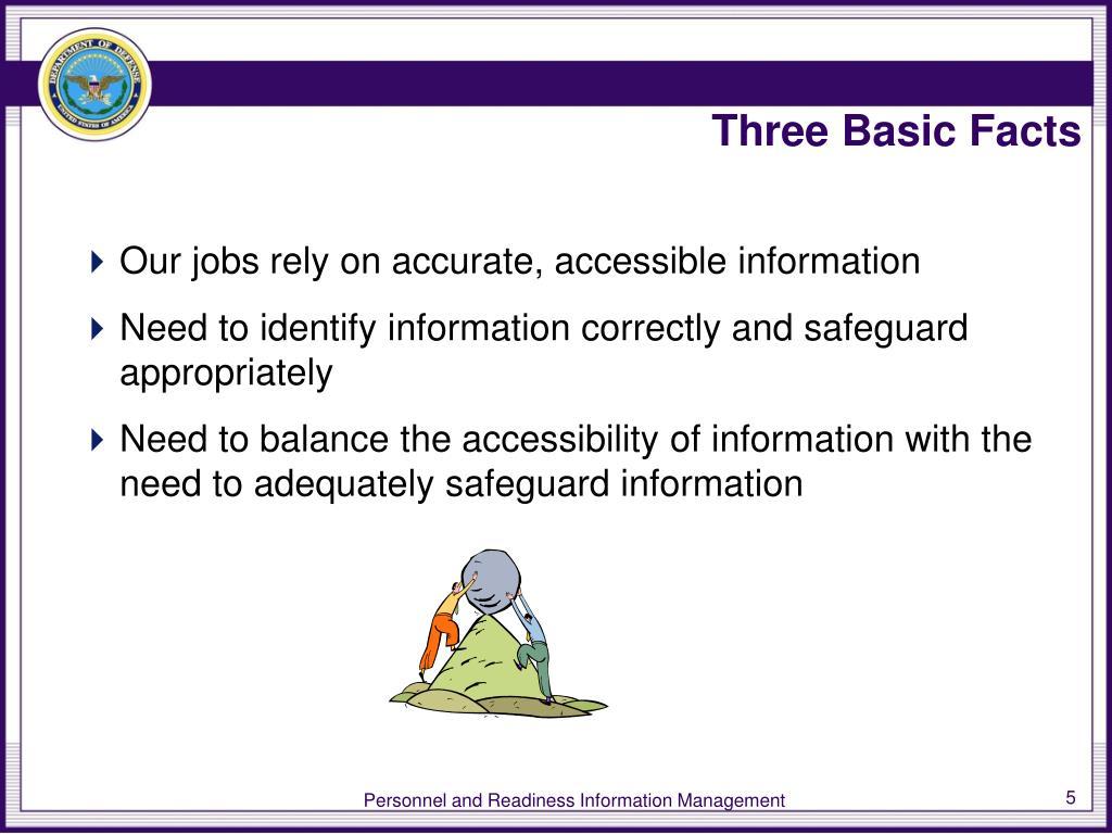 Three Basic Facts