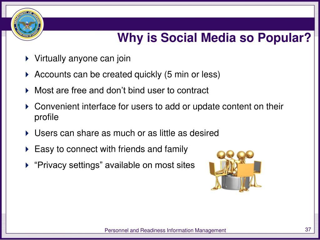 Why is Social Media so Popular?
