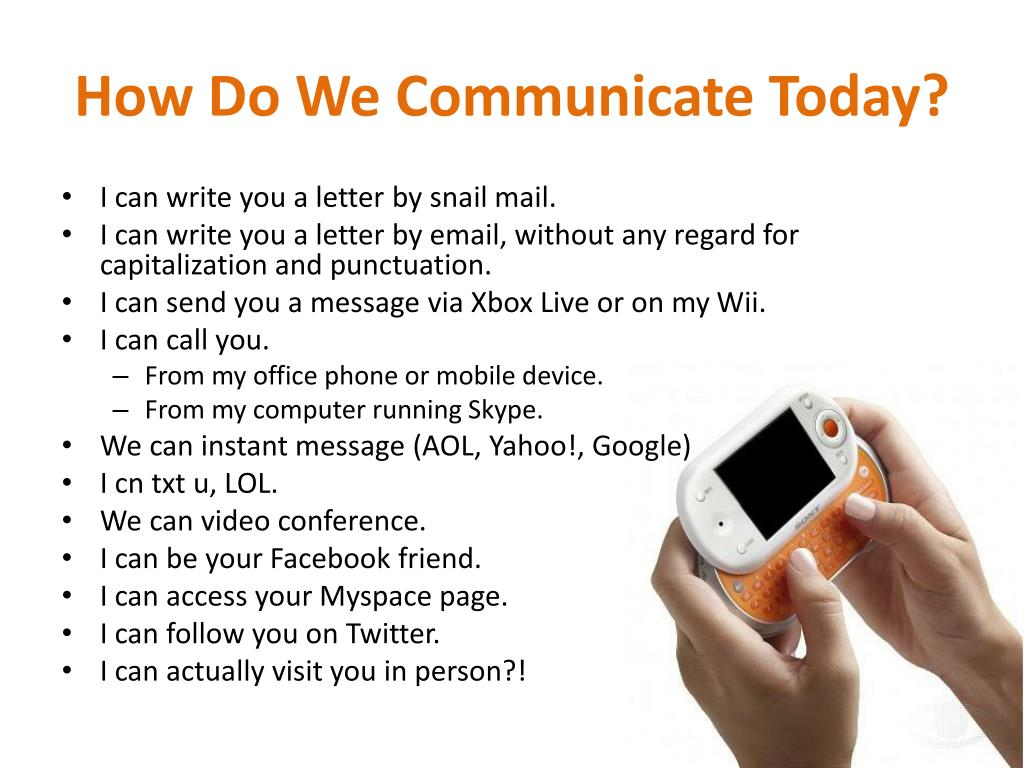 How Do We Communicate Today?