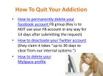 how to quit your addiction