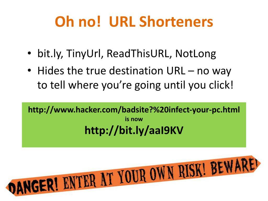 Oh no!  URL