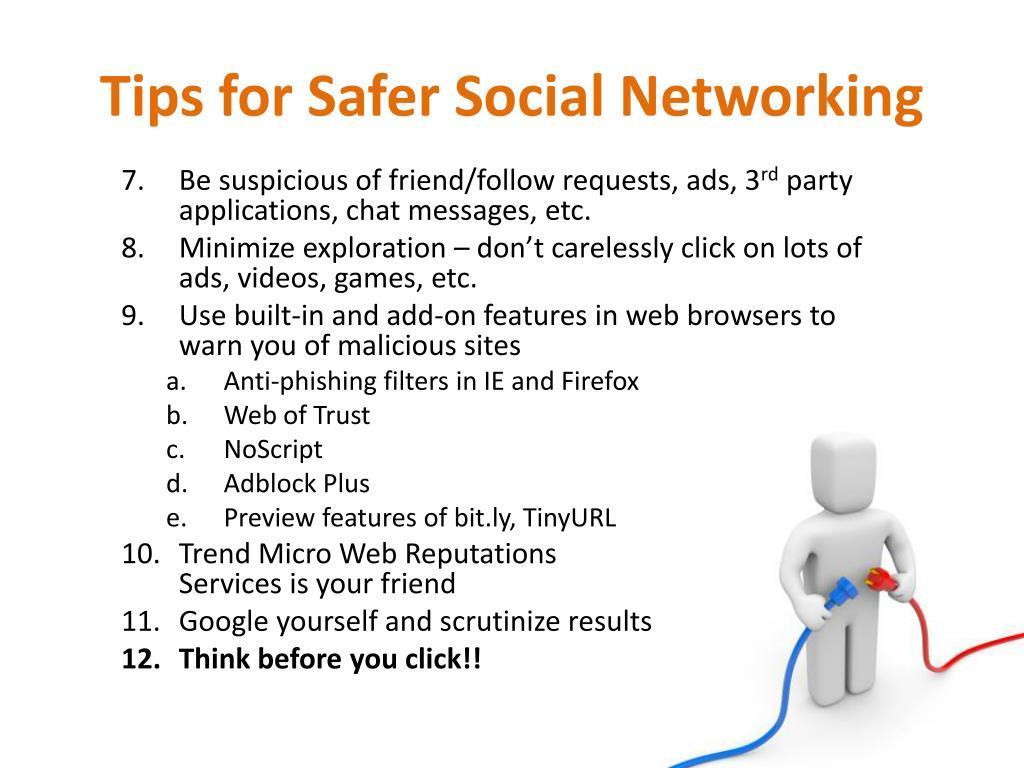 Tips for Safer Social Networking