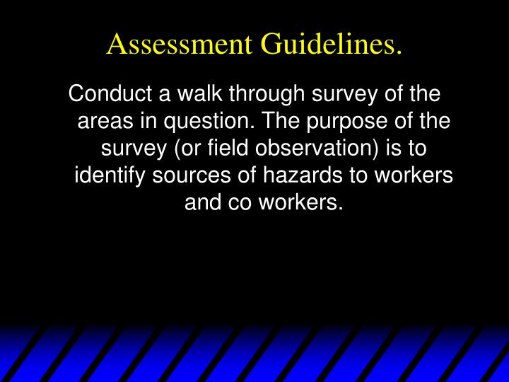 Assessment Guidelines.