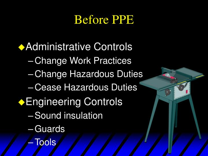 Before PPE