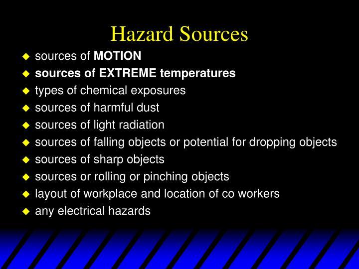 Hazard Sources