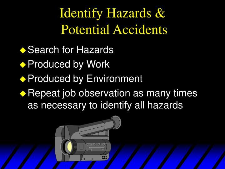 Identify Hazards &
