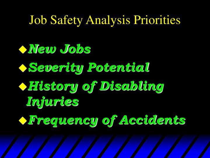 Job Safety Analysis Priorities