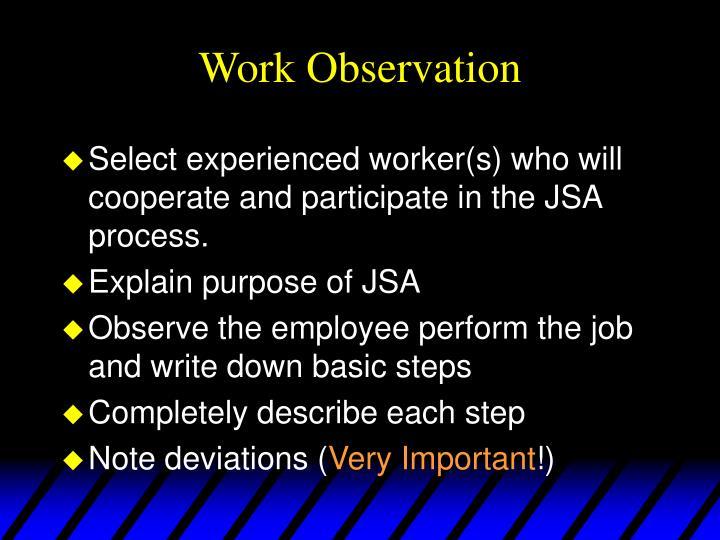 Work Observation