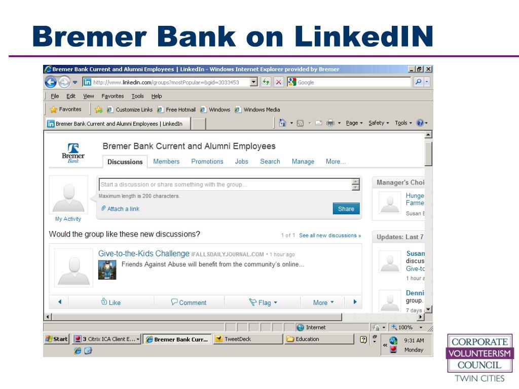 Bremer Bank on LinkedIN