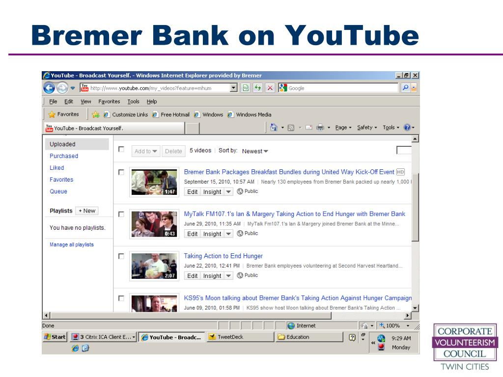 Bremer Bank on YouTube
