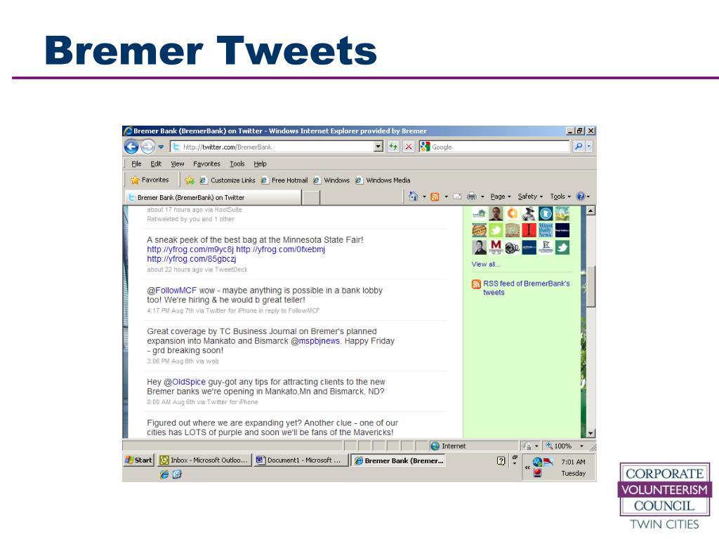 Bremer Tweets