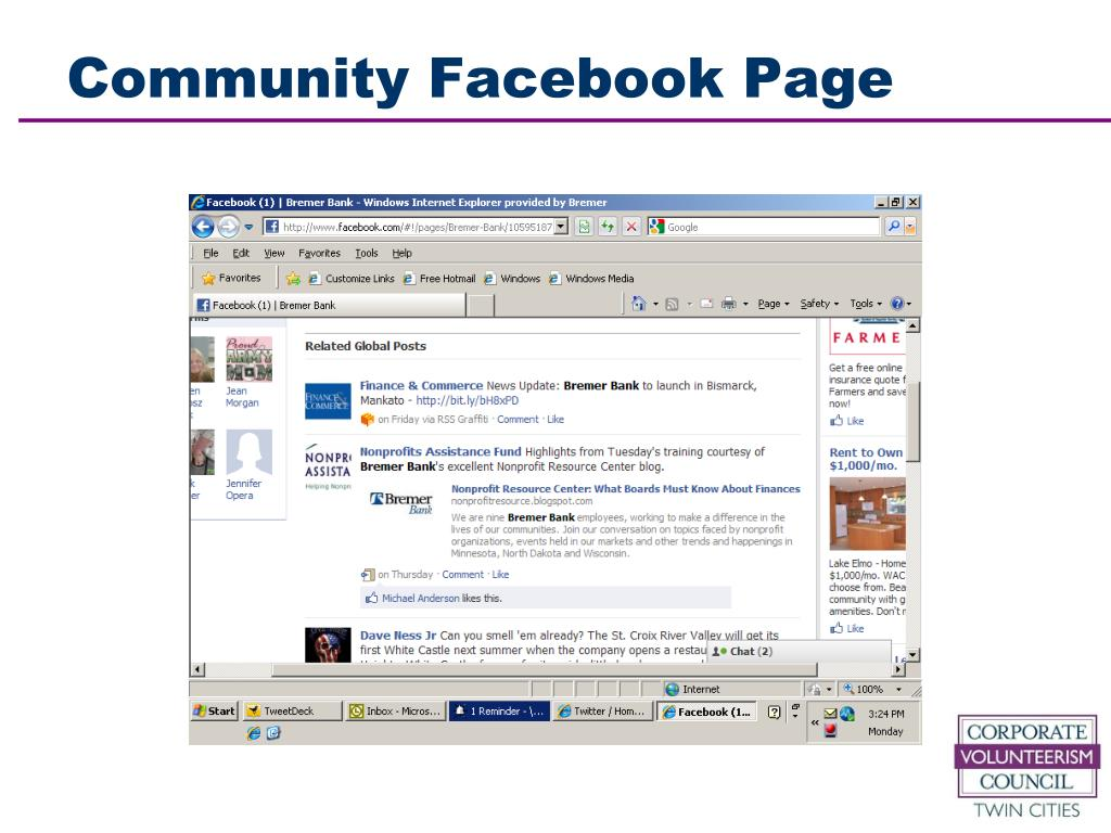 Community Facebook Page