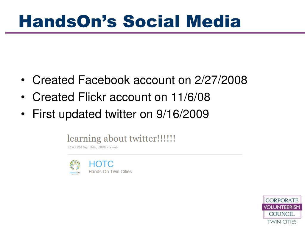 HandsOn's Social Media