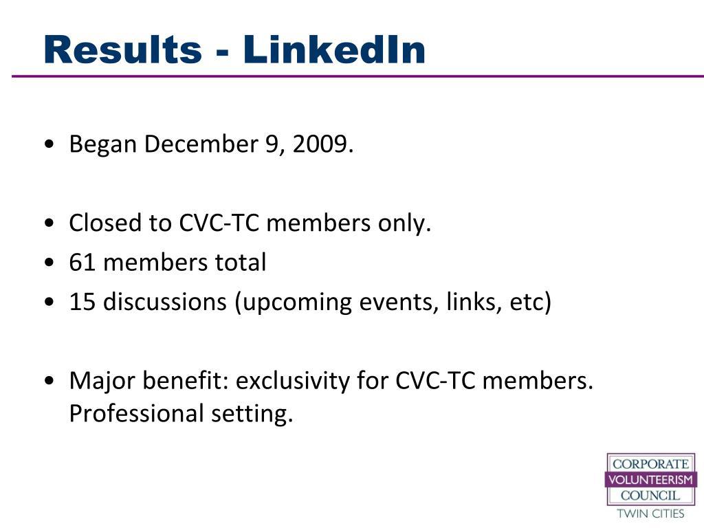 Results - LinkedIn