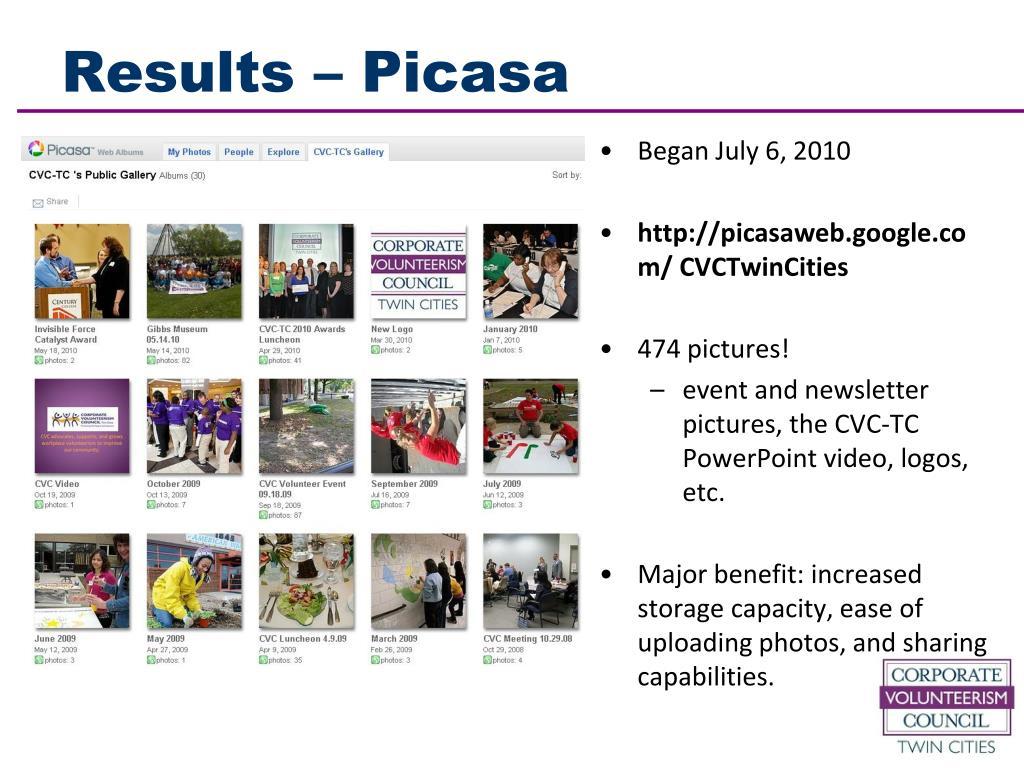 Results – Picasa