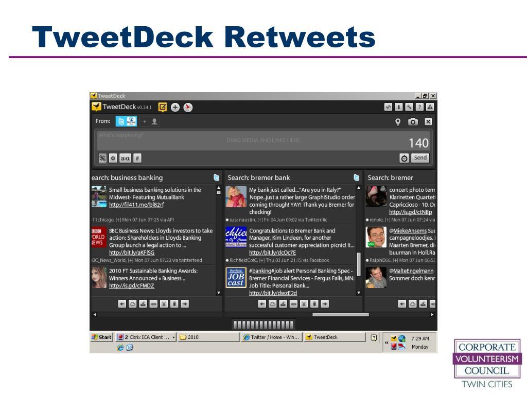 TweetDeck Retweets