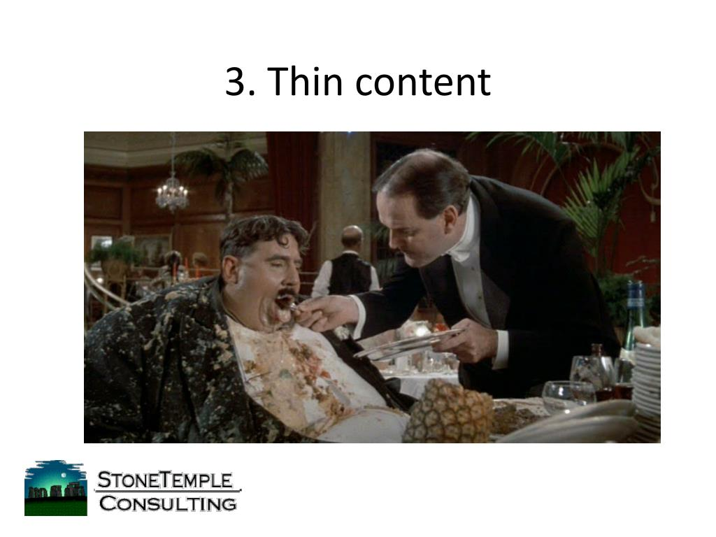 3. Thin content