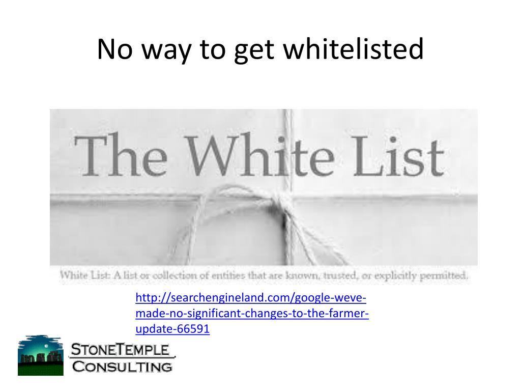 No way to get whitelisted