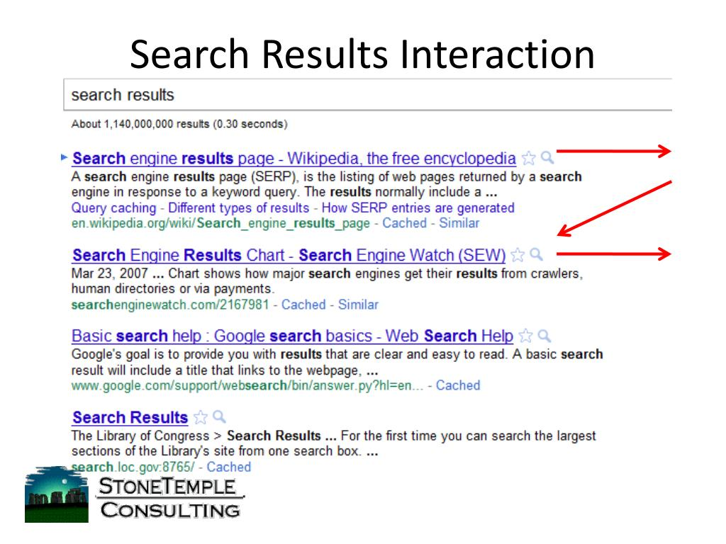 Search Results Interaction