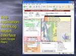 iris application stormlog report interface with google maps