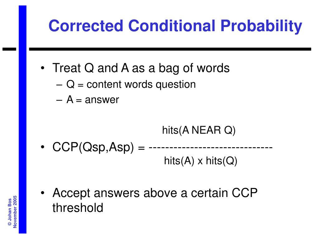 Corrected Conditional Probability