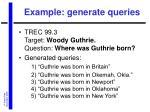 example generate queries