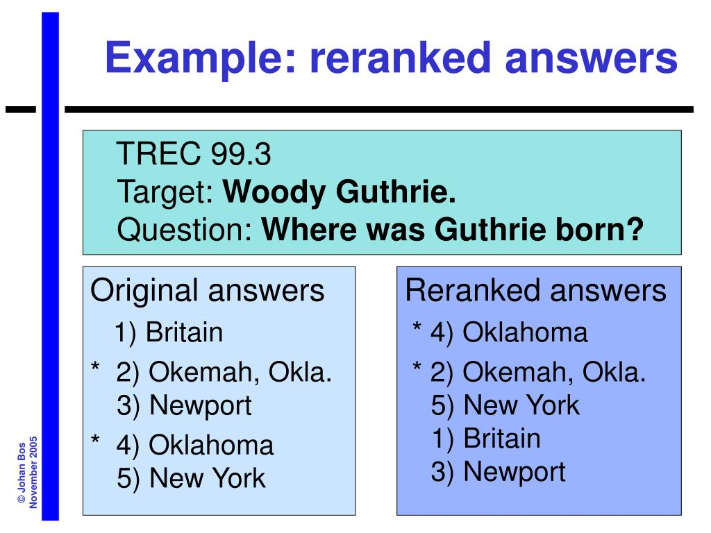 Example: reranked answers