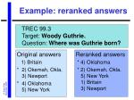 example reranked answers