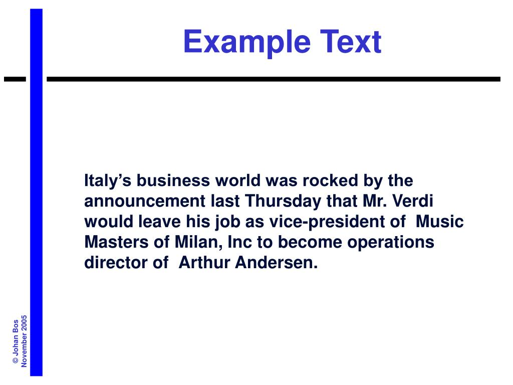 Example Text