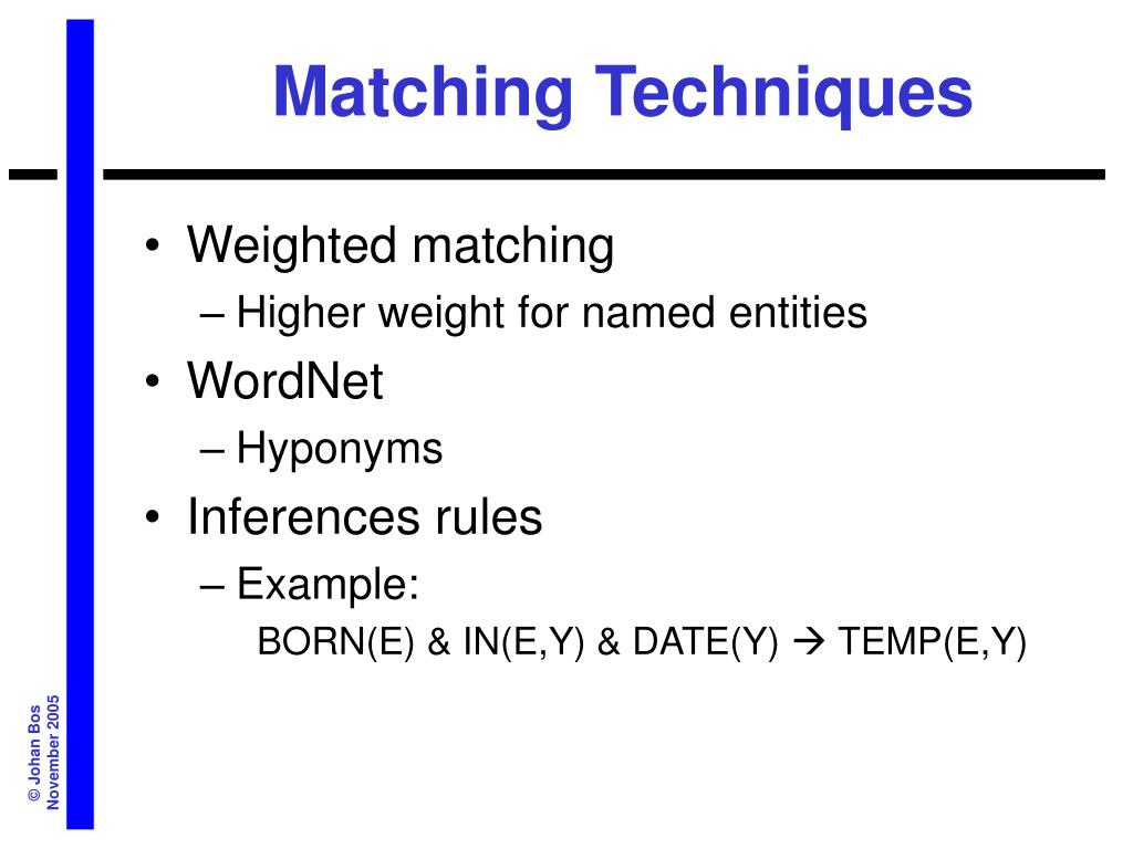 Matching Techniques