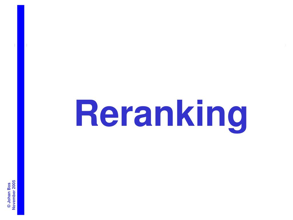Reranking