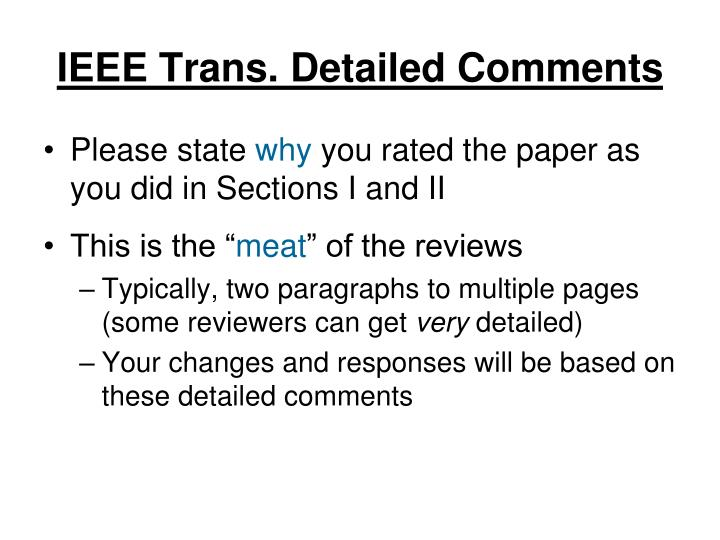 IEEE Trans. Detailed Comments
