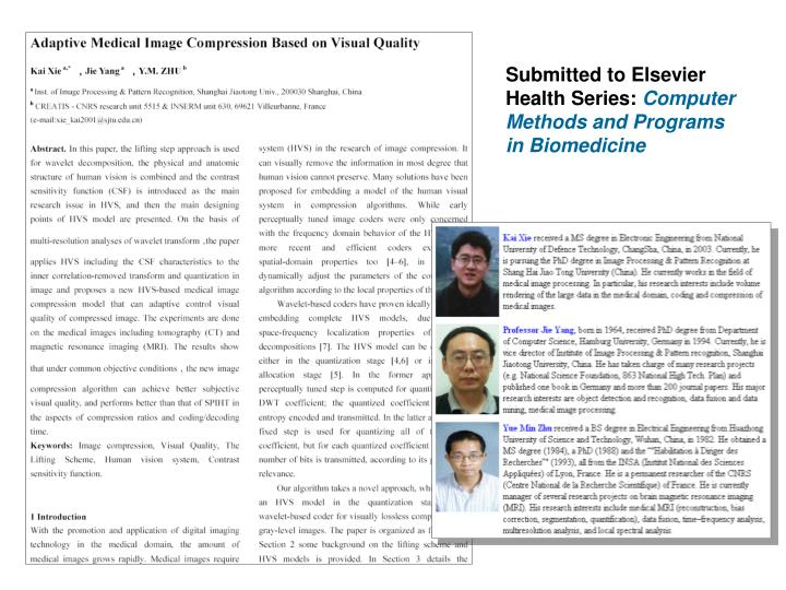 Submitted to Elsevier Health Series: