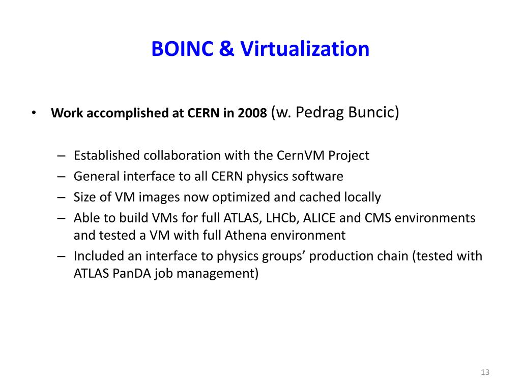 BOINC & Virtualization