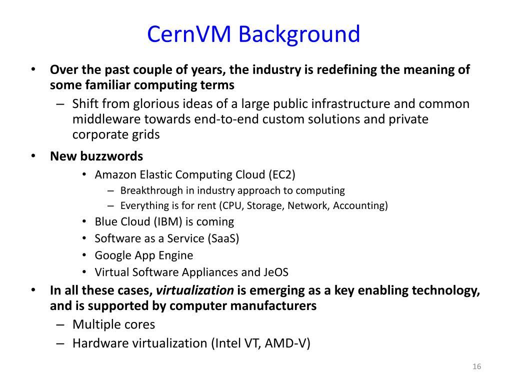 CernVM Background