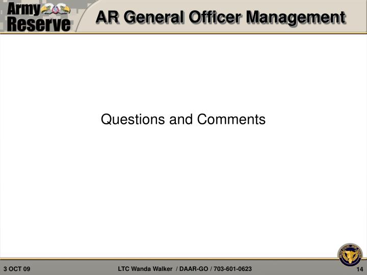 AR General Officer Management