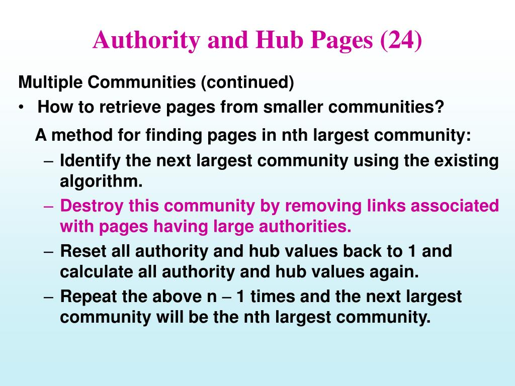 Authority and Hub Pages (24)