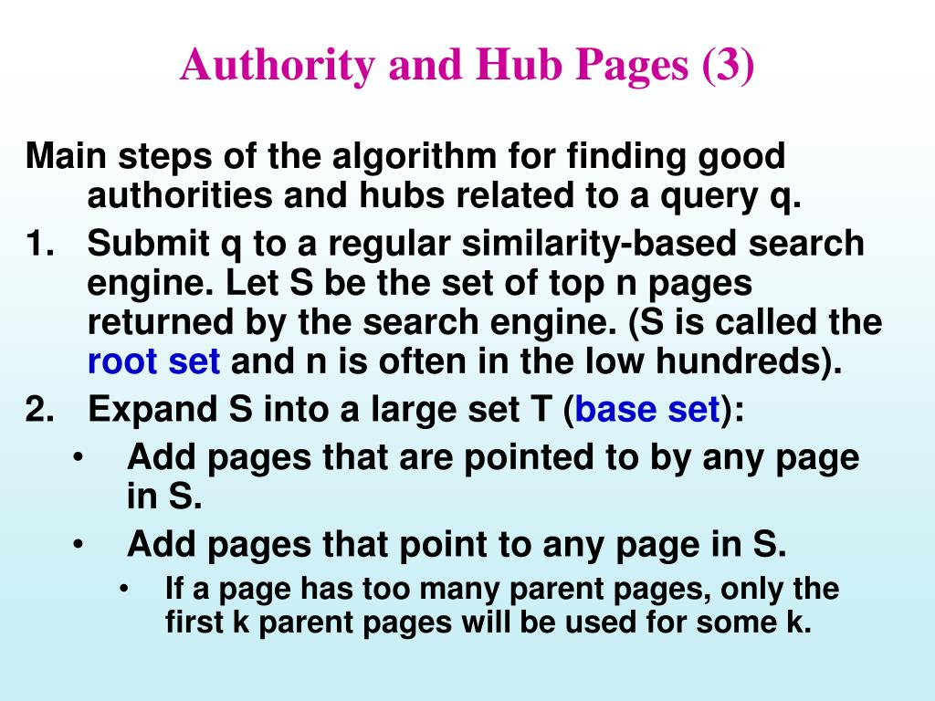 Authority and Hub Pages (3)