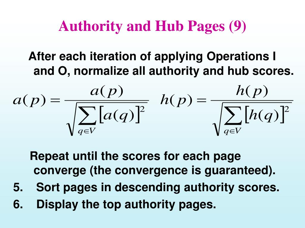 Authority and Hub Pages (9)